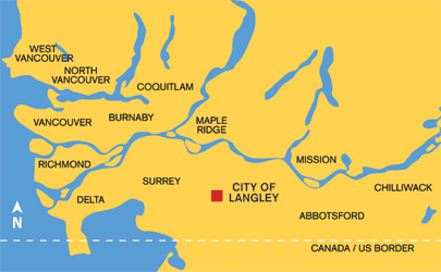 Langley Area Map